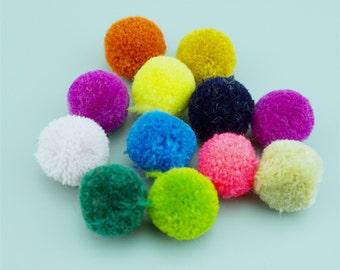 10pcs 18MM Mixed Colors Pom Pom,Yarn Pom Pom,Mini Pom Pom,Colorful Pom Pom LS009