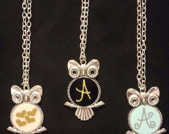 Coral (pink) Owl Necklace
