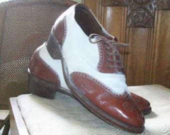 1940s American two-tone shoes size 6 and half uk
