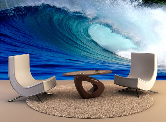 Surfing Wave Wall Mural by MuralsDesign
