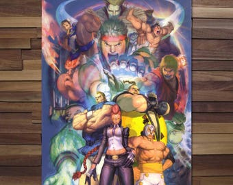 Street Fighter 4 Box Art Poster - Canvas