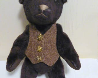 Vintage Brown Bear with Vest