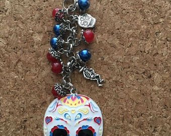 Day of the Dead purse charm Day of the Dead Keychin
