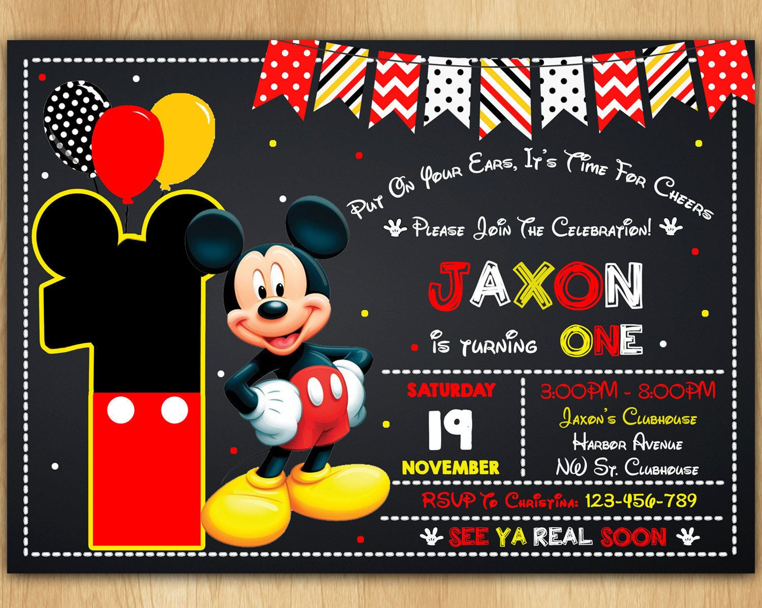 mickey mouse invitation mickey mouse invite mickey mouse