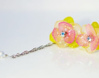 From the Heart, Real flower earrings, Preserved flower earrings, earrings, Real flower jewelry