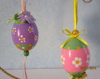 Hand painted, Easter, decoration, blown egg