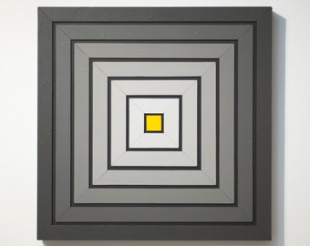 Shades of Grey 9 - original contemporary mixed media painting of acrylic on wood