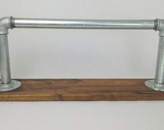 Wardrobe, Oak & steel tube, antique look