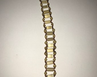 Iridescent brown bracelet