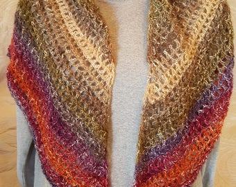 Open-Work Crochet Spring Shawl