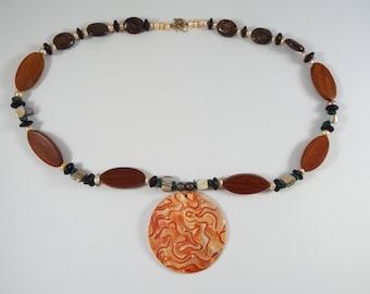 Boho Shell Pendant Necklace