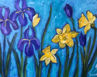 Daffodils and Irises