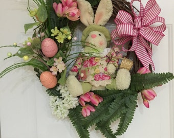 Easter wreath, bunny wreath