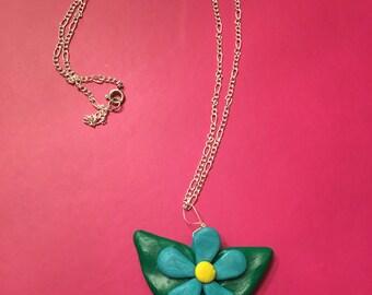 Handmade Flower Pendent Necklace