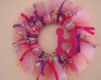 Shopkins Tulle & Ribbon Wreath