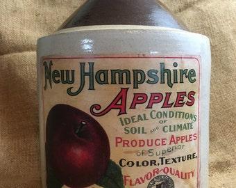 New Hampshire Stoneware Cider Jug