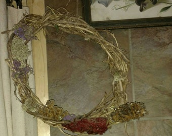 Handmade Wreath made with all natural material from SE Ohio