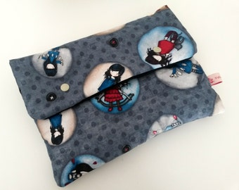 "Padded pouch ""Dolls"" 26 x 20 cm"