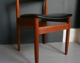 vintage retro mid century teak desk chair/dining chair by Farso Stolefabrik only 1 available