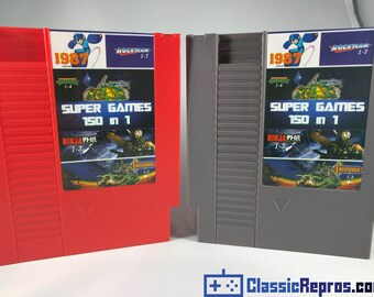 150 in 1 - Nintendo nes Cart - Mario, Ninja Turtles, Mega Man, Ninja Gaiden, Double Dragon USA/NTSC Version - Fast US Shipping