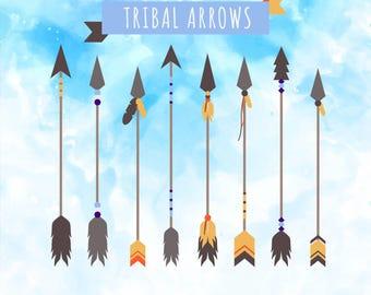 Boho Arrow Clipart | Mandala Arrow File | Tribal Arrow SVG File | Boho Arrows SVG | Boho Arrows Clipart | Arrow Vector | Arrow Cricut File