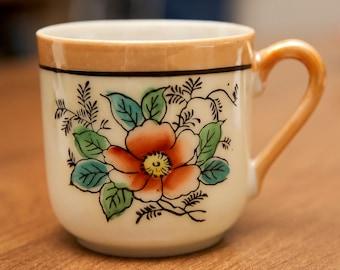 Demitasse Teacup & Saucer Set - Vintage - Made in Japan