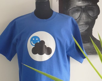 Blue T-shirt - Black Cloud - size M