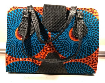 REDUCED 15%! Orange/Blue Tote