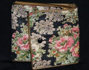 Antique handkerchief case fabric, inside plastic