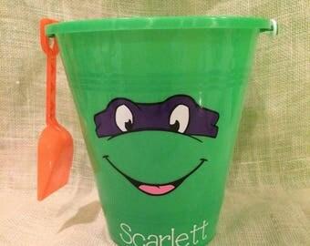 Ninja Turtle Sand Bucket and Shovel