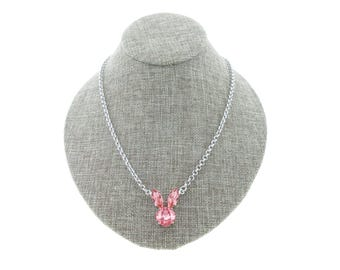Bunny Swarovski Crystal Necklace - Multiple Colors To Choose From!