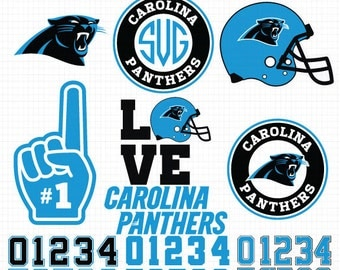 Carolina Panthers- Cuttable Design Files(Svg, Eps,Dxf, Jpg) For Silhouette Studio, Cricut Design Space, Cutting Machines,Instant Download