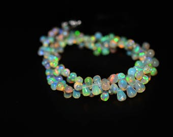 AAA Quality Natural ETHIOPIAN OPAL Tear Drops Plain Beads / 3.0-6.5 mm / Tear Drop Briolettes