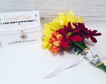 Wedding bouquet, bouquet Charm, wedding flower charm