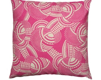 Deco Clockwork - pink - cushion - handmade