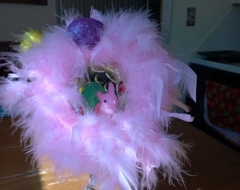 Pink Easter Bunny Decoration