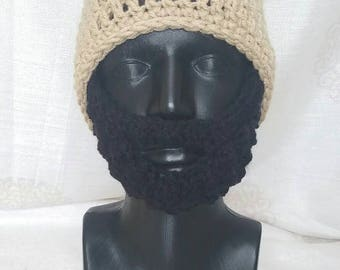 Women's bearded beanie