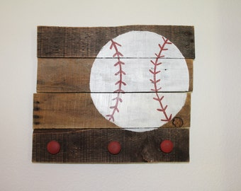 Baseball Sign w/ Knobs