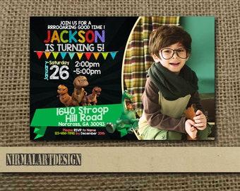 Good Dinosaurus Invitation, Good Dinosaurus Birthday, Good Dinosaurus Party, Good Dinosaurus Card, Good Dinosaurus Printable, Dinosaur_BS049