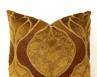 Luxury Designer Brown Velvet Pillow Cover, Brown Pillows, Velvet Pillow, Decorative Pillows, Throw Pillow, Cushione, Velvet Pillow Covers