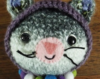 Handmade crochet cat