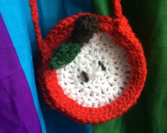 crocheted fruit purse (small)