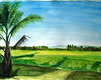 Custom Watercolor Landscape, Photo to Painting, Watercolor Painting, Landscape Painting, Custom Artwork, Custom Painting