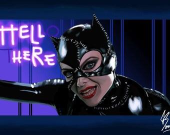 Illustration digital of Catwoman