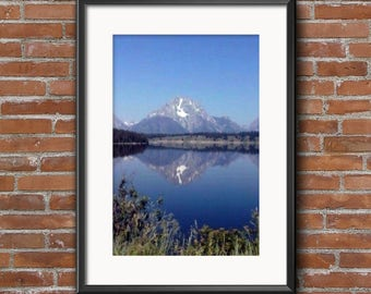 Mountain reflection, digital download, photography, wall art, office decor, picture, housewarming gift, birthday present