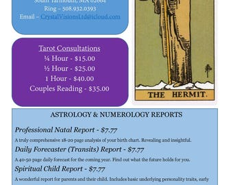 Your Choice of SIX (6) Astrology or Numerology Reports