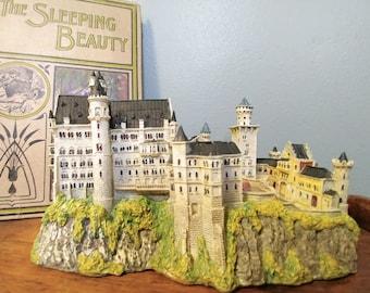 Vintage Neuschawnstein Castle Collectible by Danbury Mint // Sleeping Beauty's Castle