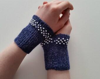 Beaded wrist warmers WW4