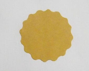 Round kraft stickers Set of 20 label sticker for packages and gifts