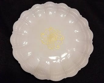Scalloped Edged Giraud & Brousseau Small Plate
